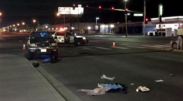Metro police are investigating a deadly crash involving a pedestrian on Sept. 25, 2017. (Luis Marquez/FOX5)