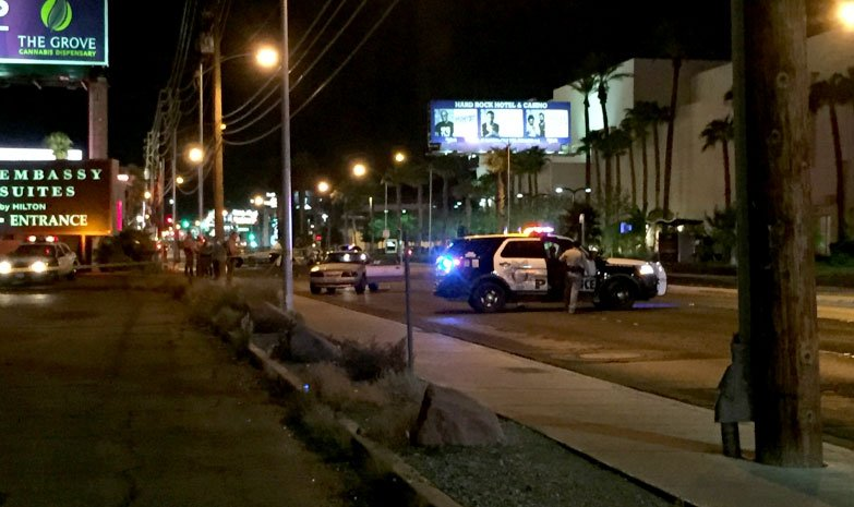 Police investigate a crash involving a pedestrian on Sept. 12, 2017. (Luis Marquez/FOX5)