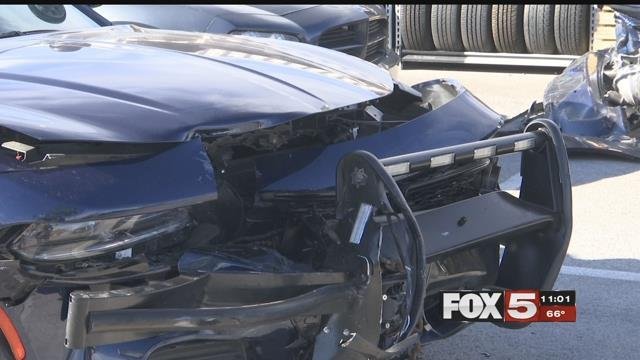 "An NHP trooper was injured by a ""red light runner"" Monday."