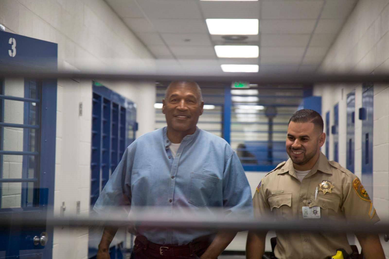 O.J. Simpson at a facility on the day of his parole hearing on July 20, 2017.  (Sholeh L. Moll-Masumi)