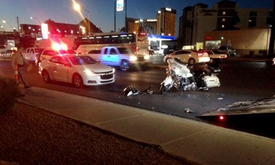 A Metro officer was involved in a crash on Sept. 28, 2017. (Armando Navarro/FOX5)