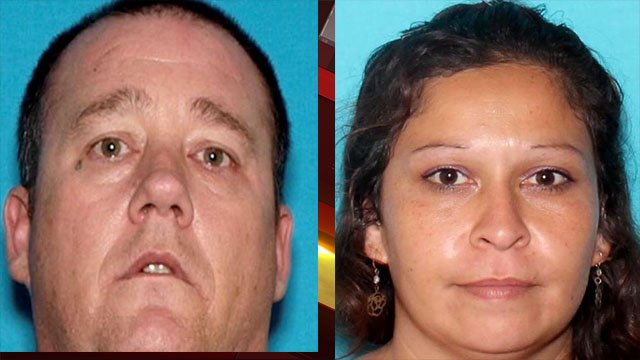 Suspects Larry Gray Junior and Michael (Michelle) Maria Falus. (Courtesy: NLVPD)