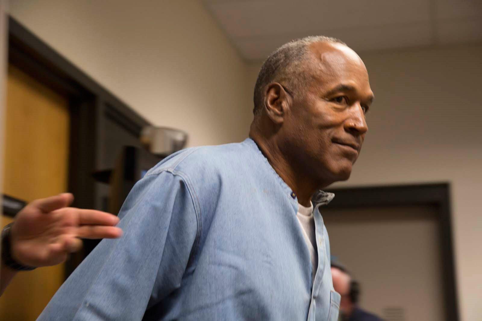 O.J. Simpson during his parole hearing in Nevada. (Sholeh L. Moll-Masumi)