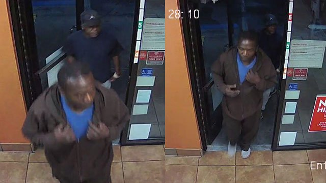 Police released images of two suspected robbers. (Source: NLVPD)