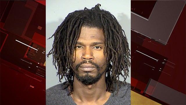 Clayton Bernard was arrested after police found an illegal marijuana shop. (LVMPD)