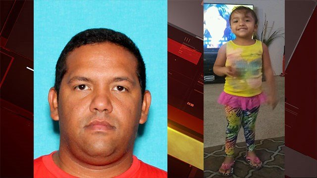LVMPD is searching for shooting and kidnapping suspect Eduardo Rozada-Tamayo, left, and 4-year-old Angie, right, after he shot and killed the mother of the child (LVMPD)