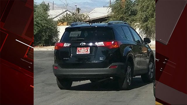LVMPD said the suspect fled in a new-model black Toyota RAV4 (LVMPD).