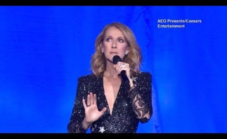Celine Dion dedicates her show to the victims of Sunday's deadly shooting (Oct. 4, 2017)