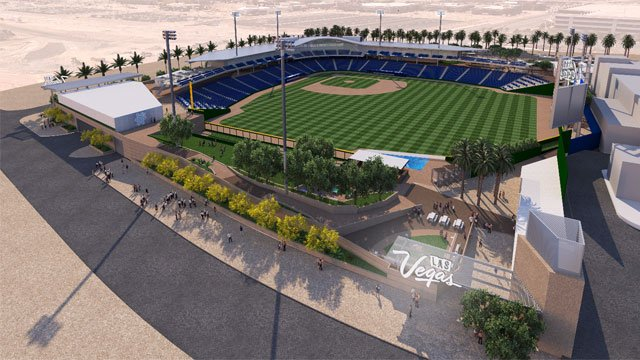 A rendering of the Las Vegas Ballpark.