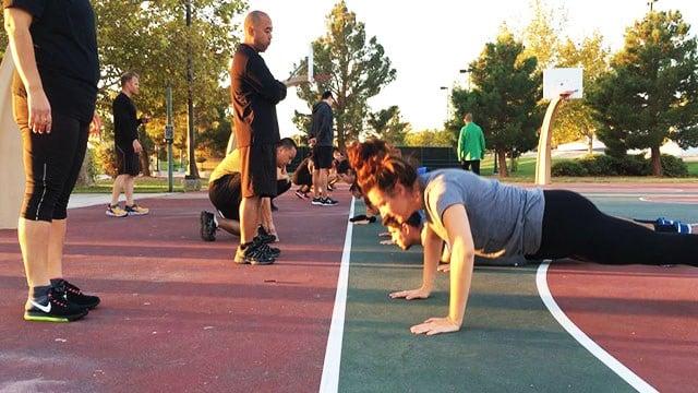 Metro fitness training session held on Oct. 12, 2017. (Mike Doria/FOX5)
