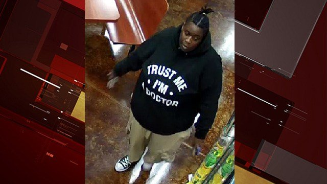 Metro police are looking for a woman who robbed a convenient store at gunpoint on Silverado Ranch. (LVMPD)