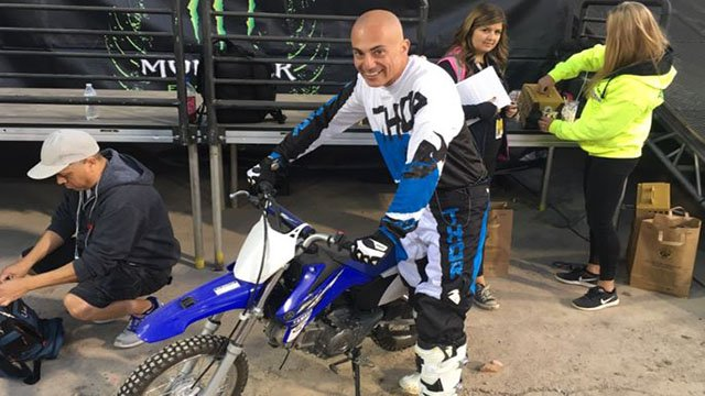 Mike Doria trying out for the Monster Energy Cup while the event was in town on Oct. 13, 2017. (FOX5)
