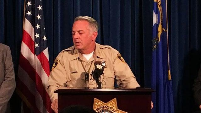 Sheriff Joe Lombardo at 1 Oct. press conference on Oct. 13, 2017. (Jason Westerhaus/FOX5)