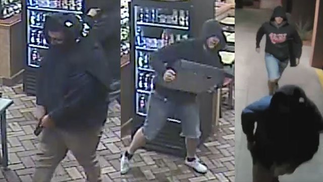 Surveillance images of suspects involved in a robbery of a Subway restaurant in Henderson on Oct. 13, 2017. (Henderson Police Department)