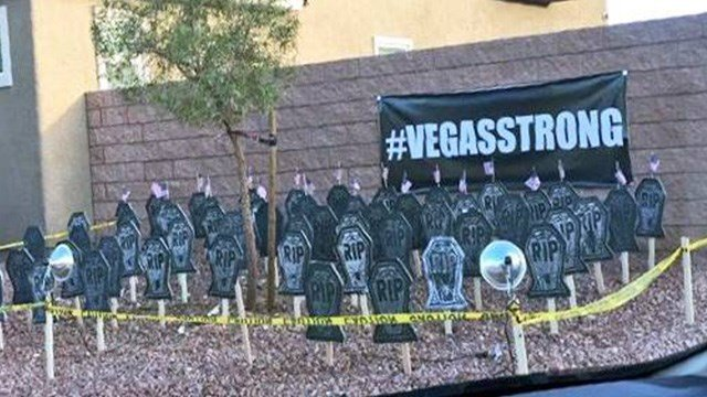 A display of tombstones outside a valley home sparked a debate among neighbors.