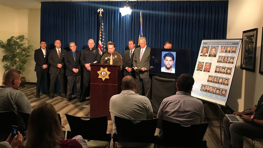 Metro and other law enforcement agencies held a press conference on Oct. 19, 2017. (Gai Phanalasy/FOX5)