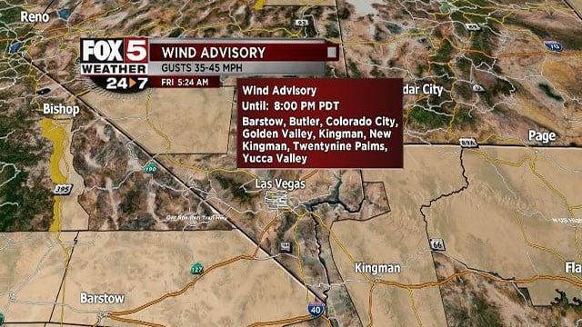Wind advisory issued on Oct. 20, 2017. (Cassandra Jones/FOX5)