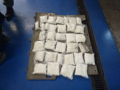 Thirty pounds of meth was seized in July by a local drug task force.