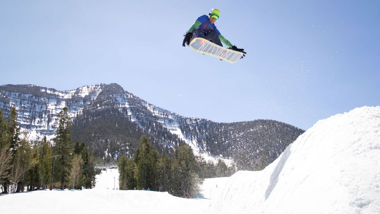 A snowboarder is shown at Lee Canyon in an undated image. (Source: Lee Canyon)