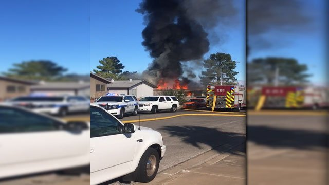 Smoke rises from a house fire in Henderson. (Report It)