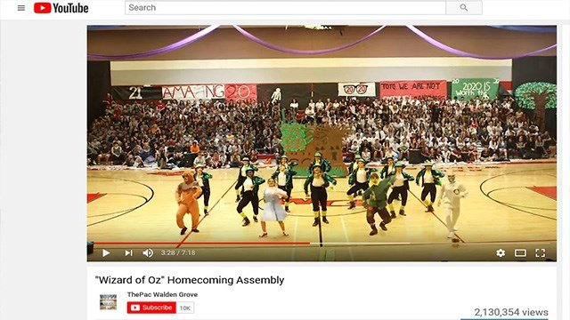 An Arizona high school's dance performance was been watched by millions online.