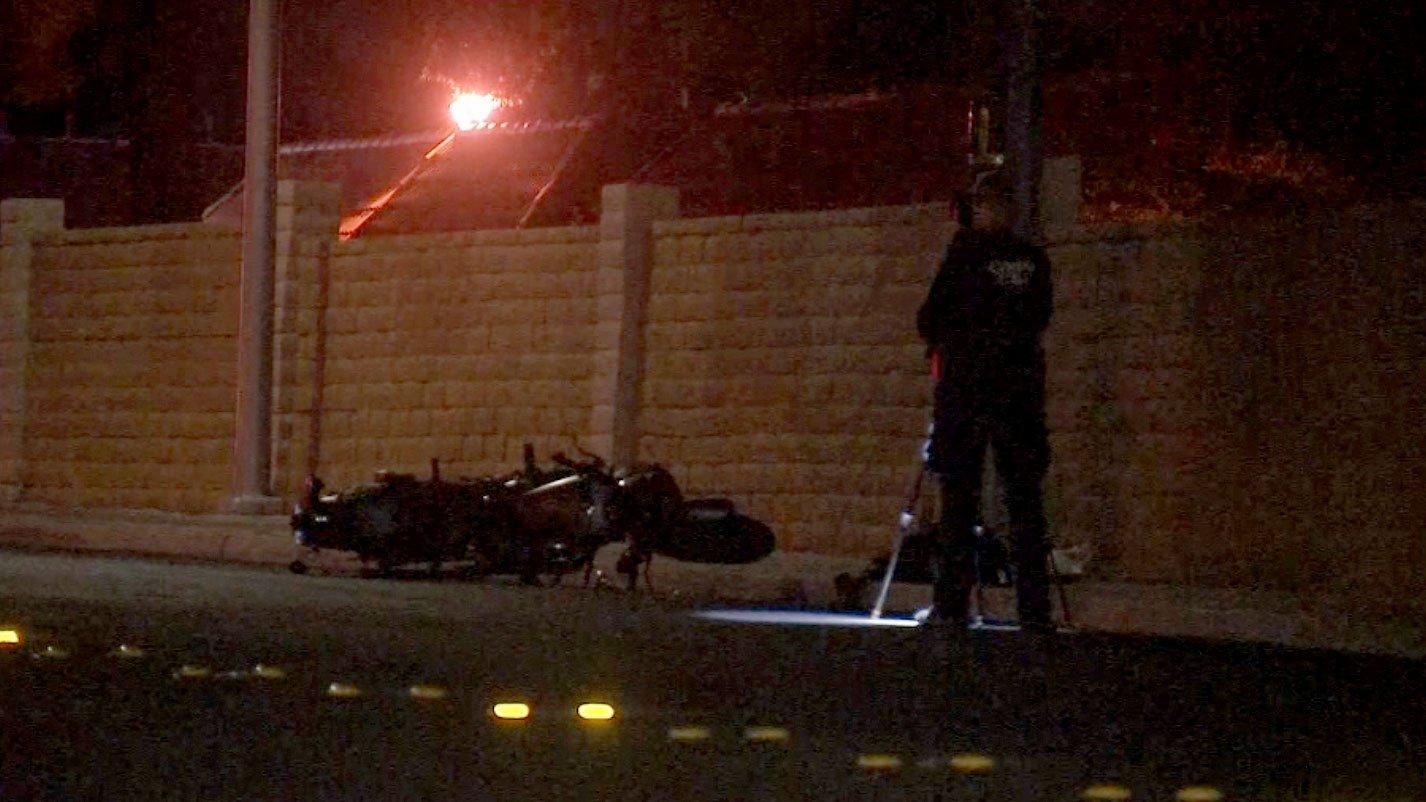 A motorcyclist was critically injured in a crash on Oct. 24, 2017. (Luis Marquez/FOX5)
