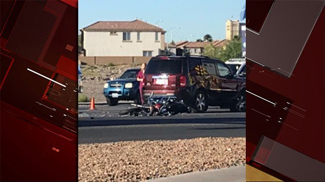 A FOX5 viewer shared an image of a deadly crash in Henderson on Oct. 24, 2017. (Devin Klein)