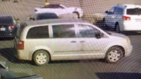 Police released an image of the bank robbery suspect's van. (Source: Bullhead City police)