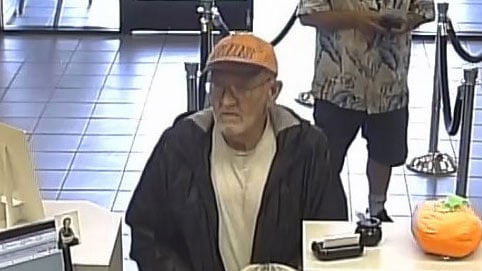 Police released an image of the suspect of a bank robbery on Oct. 17, 2017. (Source: Bullhead City police)