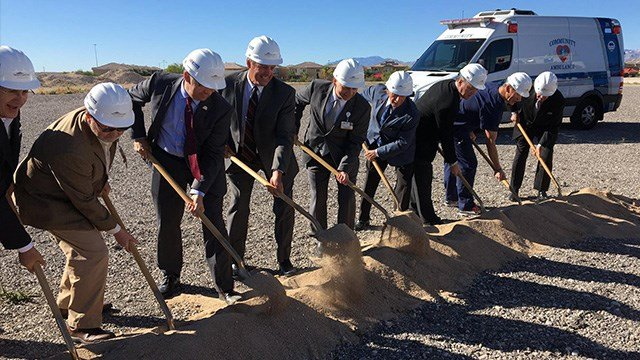 MountainView Hospital broke ground on its new emergency room Tuesday. (FOX5)