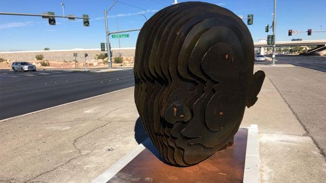 New artwork appeared in the Las Vegas Valley. (Jason Westerhaus/FOX5)