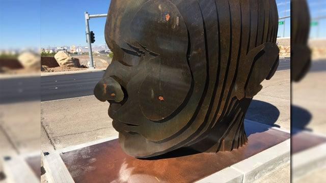 Artist Luis Varela-Rico created this piece for the Valley.  (Jason Westerhaus/FOX5)