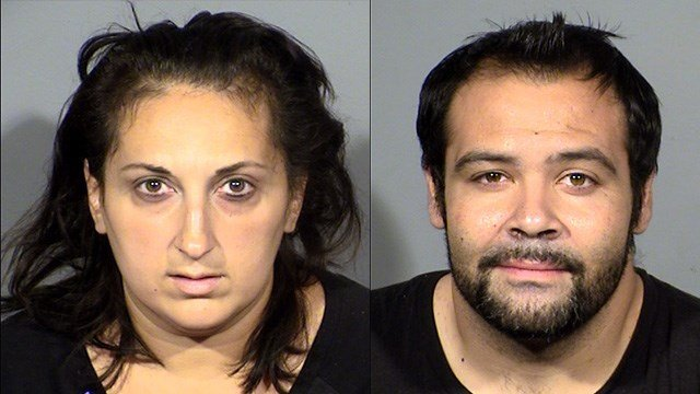 Metro announced the arrests of Robert Mitchell, 31, Dorina Mitchell, 36, and a teenager on Oct. 26 in connection to a staged crash case. (LVMPD)