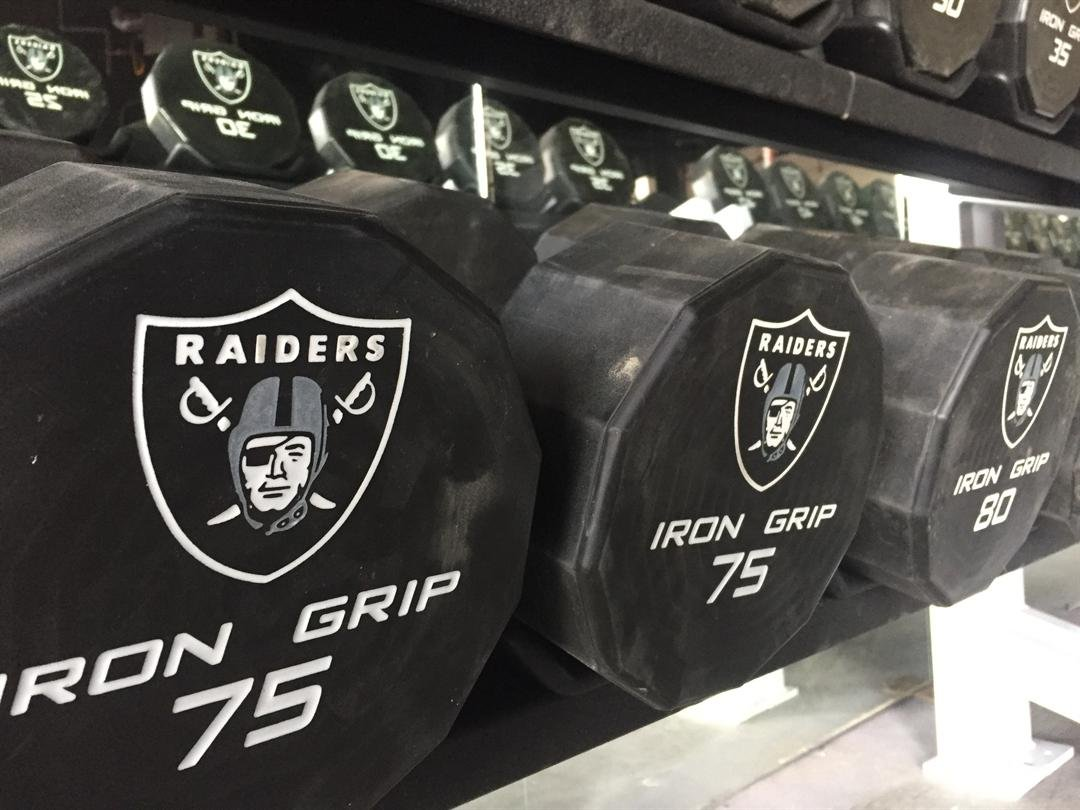 The Raiders donated workout equipment to a North Las Vegas youth boxing gym. (FOX5)