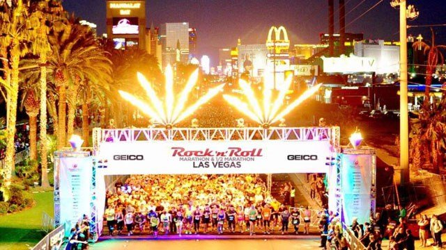 GEICO Rock 'n' Roll Las Vegas Marathon pictured here in an updated image. (Courtesy: Ryan Bethke)