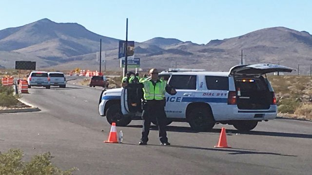 Henderson police at the scene of a fatal crash near Inspirada on Oct. 28, 2017. (Cherney Amhara/FOX5)