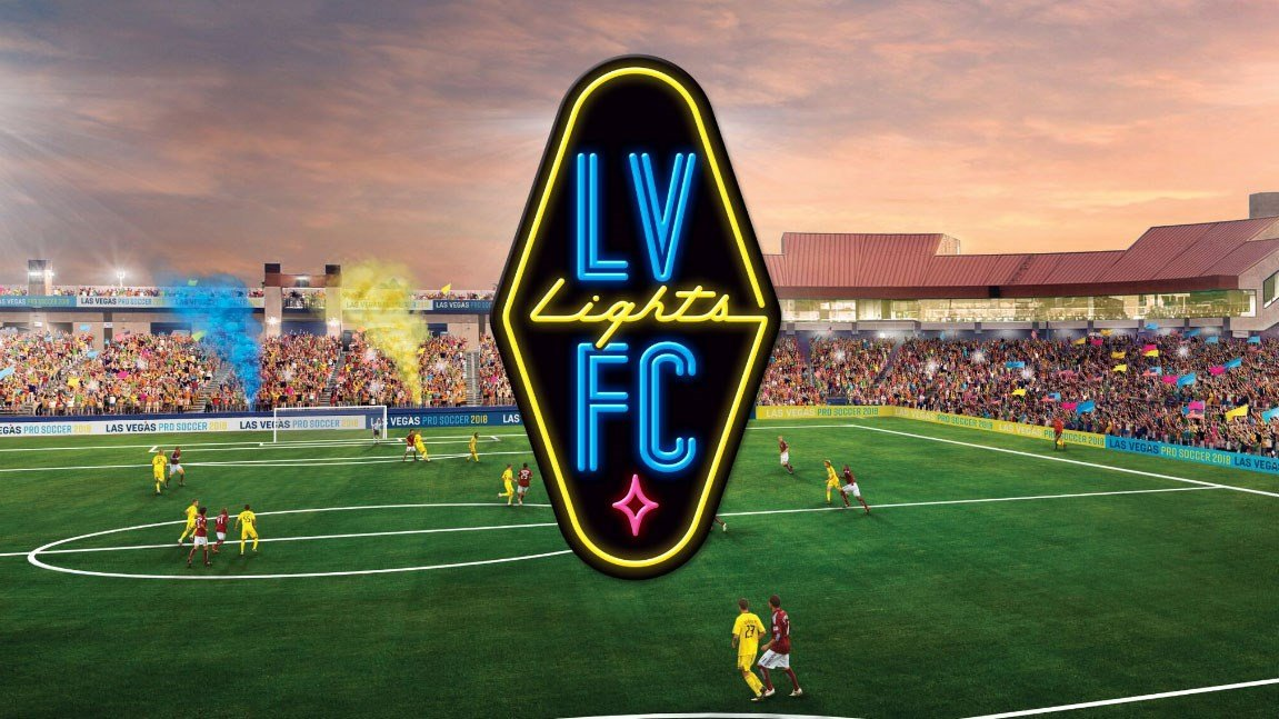The Las Vegas Lights FC unveiled the team logo on Oct. 30, 2017. (Las Vegas Lights FC)