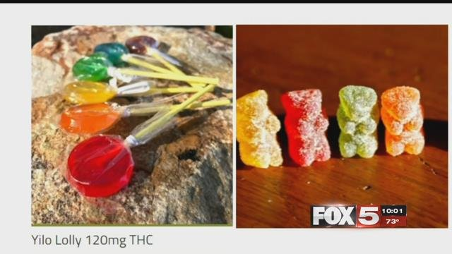Marijuana infused lollipops and gummy bears are shown in this undated photo (FOX5).