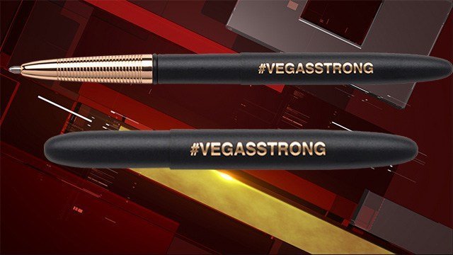 The Fisher Space Pen Co. made a #VEGASSTRONG pen to donate profits to 1 October victims. (Fisher Space Pen Co.)