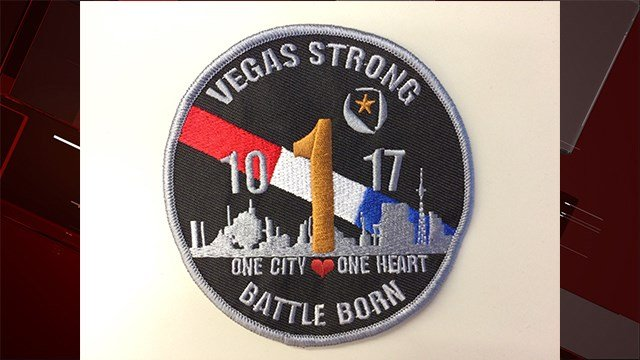 Vegas Strong patch created by paramedics Callen Daquioag and Mike Gannon