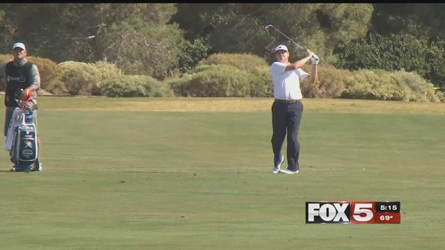 The wind played a major role in day two of the Shriners Open. (FOX5)
