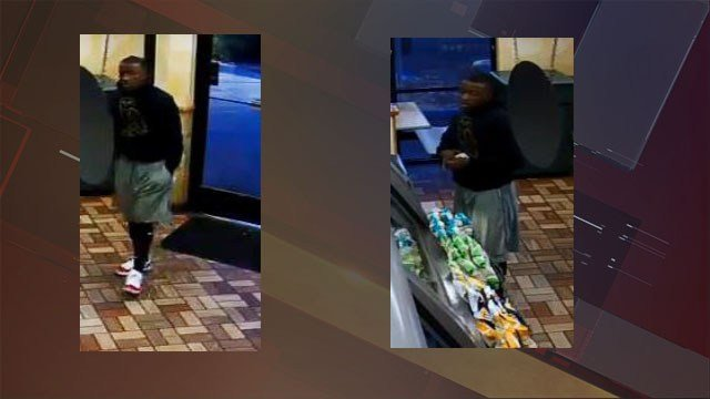 Screenshots of robbery suspect captured on surveillance video during incident on Nov. 2, 2017. (Courtesy: LVMPD)