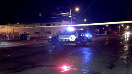 Police investigate a homicide on Nov. 5, 2017. (Luis Marquez/FOX5)