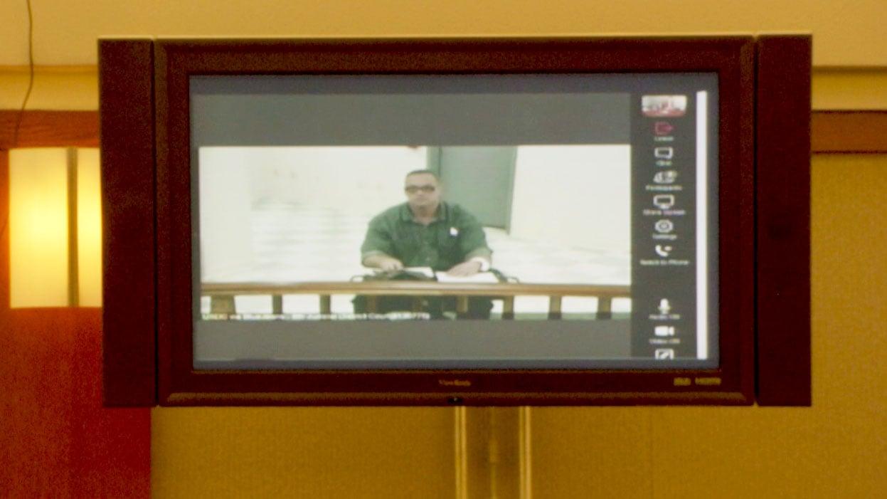 Scott Dozier appeared via video conference on Nov. 9, 2017. (Jason WesteRhaus/FOX5)