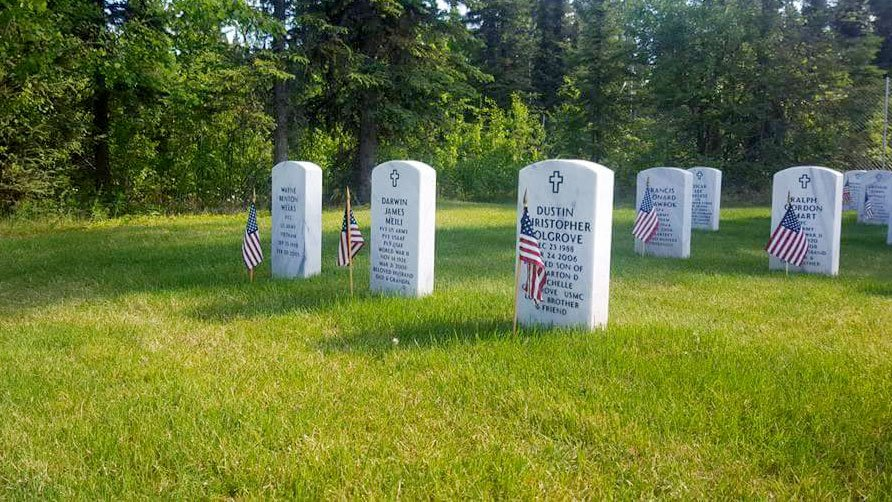Gravestones of those who served the country are shown in an undated image. (Joseph Dennis/Facebook)