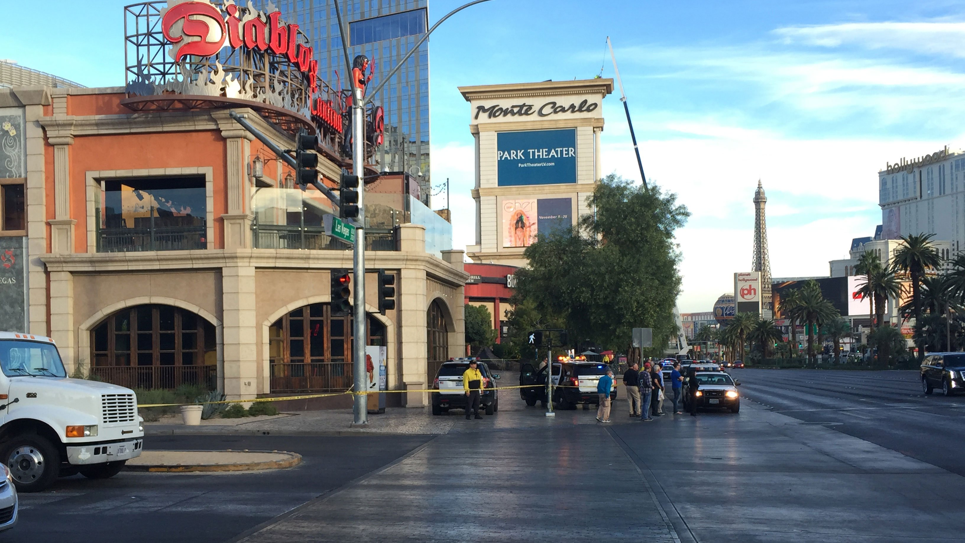 Police said they are investigating a shooting on the Las Vegas Strip on Nov. 14, 2017. (Luis Marquez/FOX5)