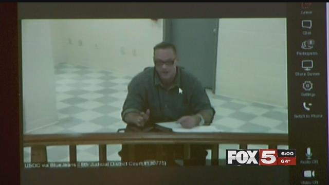 Scott Dozier appears via video during a November hearing. (FOX5)