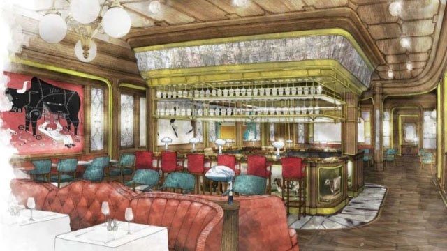 Rendering of Bavette's Steakhouse interior. (Courtesy: MGM Resorts)