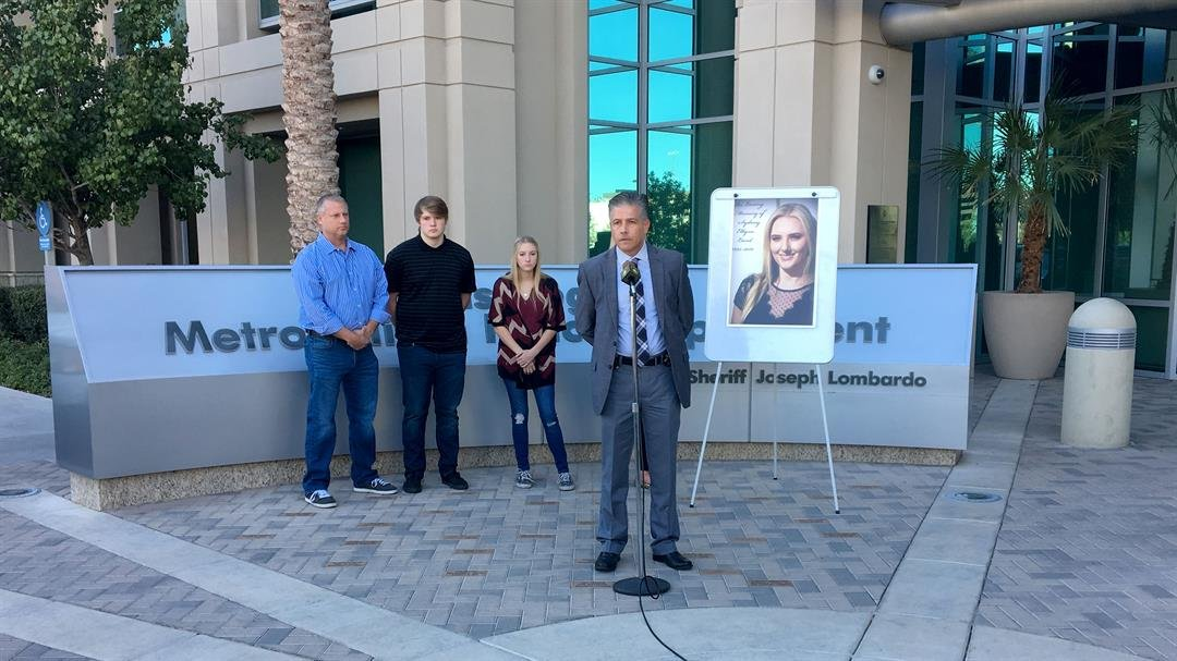 The Land family held a press conference with Metro on Nov. 15, 2017. (Jason Westerhaus/FOX5)