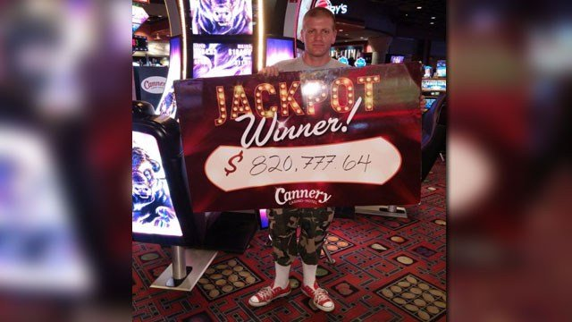 A Las Vegas man hit a jackpot worth more than $800,000. (Source: Cannery Casino Hotel)